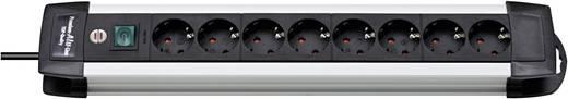 Steckdosenleiste mit Schalter 8fach Schwarz, Aluminium Schutzkontakt Brennenstuhl 1391000018