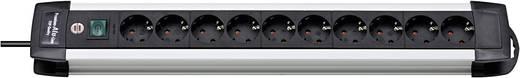 Brennenstuhl 1391000010 Steckdosenleiste mit Schalter 10fach Schwarz, Aluminium Schutzkontakt