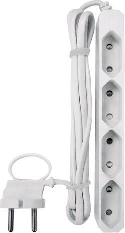 Zásuvková lišta GAO, 4 zásuvky, bílá