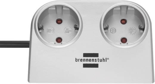 Steckdosenleiste ohne Schalter 2fach Silber Schutzkontakt Brennenstuhl 1153540