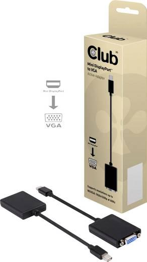 club3D DisplayPort / VGA Adapter [1x Mini-DisplayPort Stecker - 1x VGA-Buchse] Schwarz