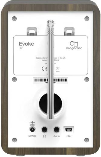 DAB+ Tischradio Pure Evoke D2 AUX, DAB+, UKW Holz