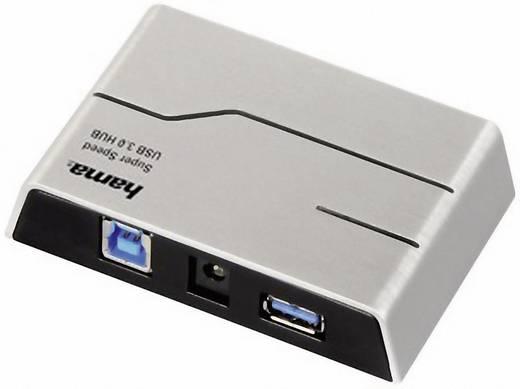 4 Port USB 3.0-Hub Hama Schwarz, Silber