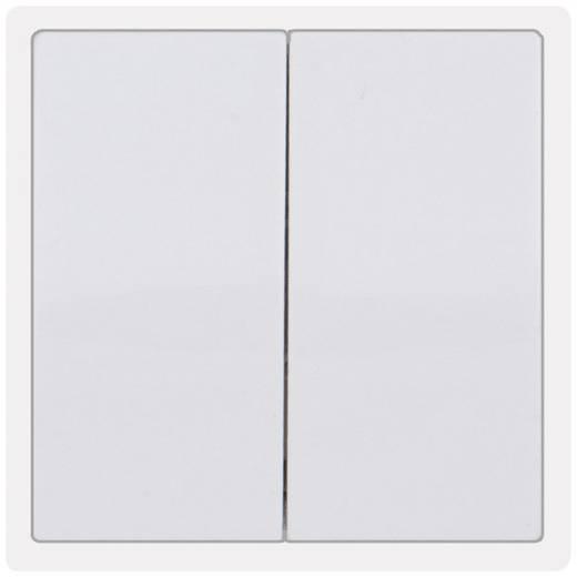 PERA Abdeckung Serienschalter, Doppel-Wechselschalter Pera Weiß 2110-002-0001