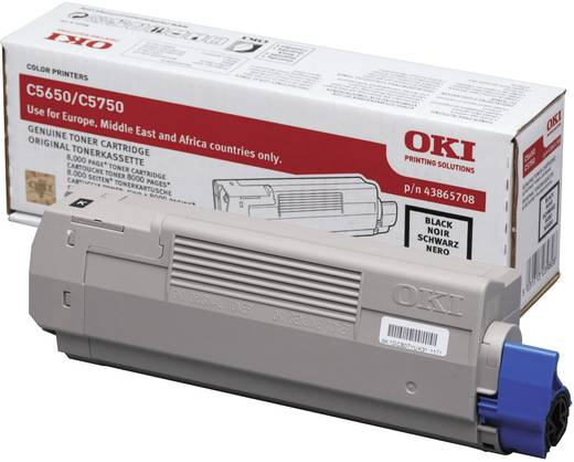 OKI Toner C5650 C5750 43865708 Original Schwarz 8000 Seiten