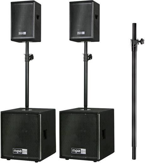 Aktives PA-Lautsprecher-Set mpa M.A.R.L.I.S. 2.2 MK III inkl. Distanzstange