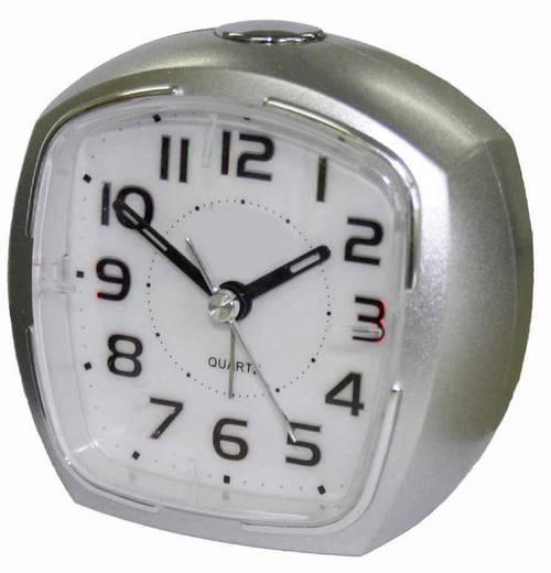 Quarz Wecker EuroTime 21010-07 Silber Alarmzeiten 1