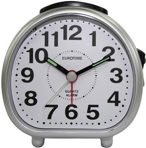 Quarz Wecker EuroTime 22182-07 Silber Alarmzeiten 1
