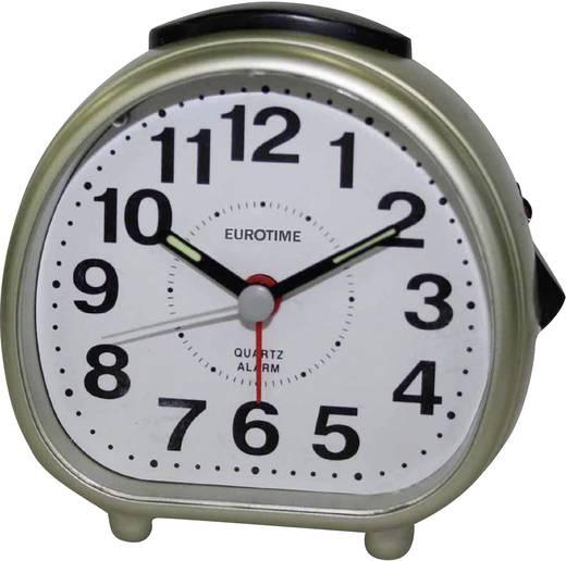 Quarz Wecker EuroTime 22182-12 Champagner Alarmzeiten 1