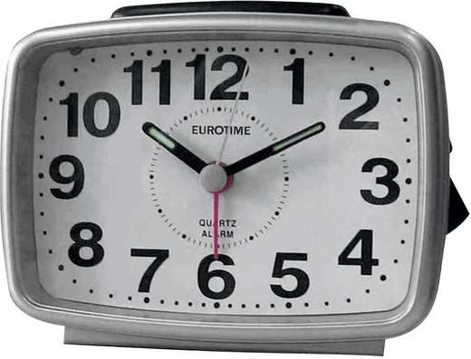 Quarz Wecker EuroTime 22183-07 Silber Alarmzeiten 1