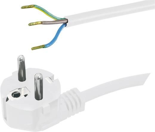 Strom Anschlusskabel [ Schutzkontakt-Stecker - Kabel, offenes Ende] Weiß 5 m HAWA 1008227