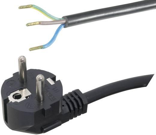 Strom Anschlusskabel [ Schutzkontakt-Stecker - Kabel, offenes Ende] Schwarz 2 m HAWA 1008219