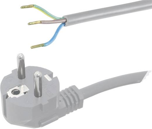 Strom Anschlusskabel [ Schutzkontakt-Stecker - Kabel, offenes Ende] Grau 2 m HAWA 1008220