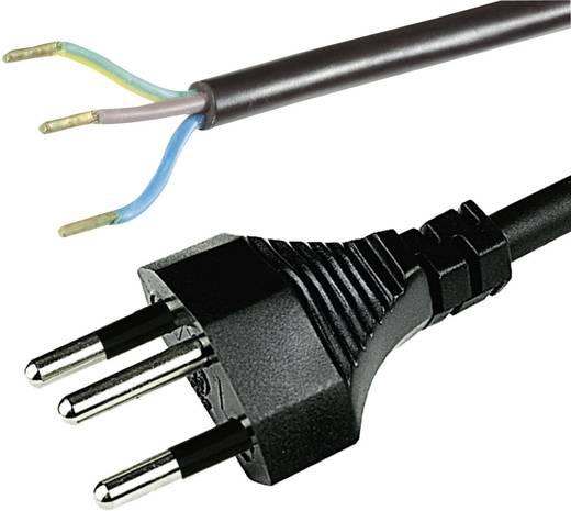 Strom Anschlusskabel [ Schweiz-Stecker - Kabel, offenes Ende] Schwarz 2 m HAWA 1008242