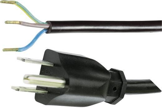 Strom Anschlusskabel [ USA-Stecker mit Schutzkontakt - Kabel, offenes Ende] Schwarz 2 m HAWA 1008246