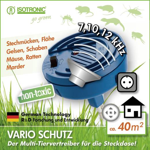 Insektenvertreiber Isotronic Vario (Ø x H) 74 mm x 70 mm Blau 1 St.