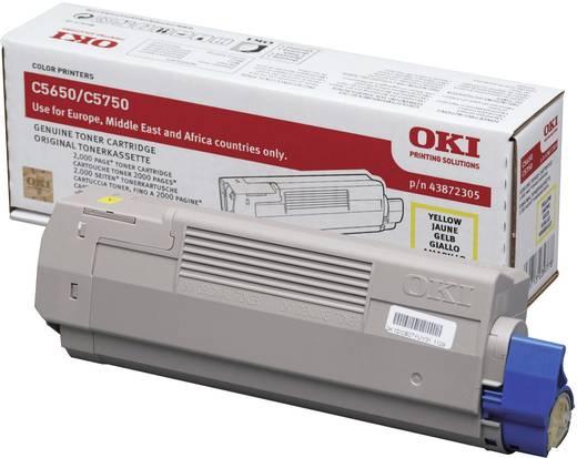OKI Toner C5650 C5750 43872305 Original Gelb 2000 Seiten