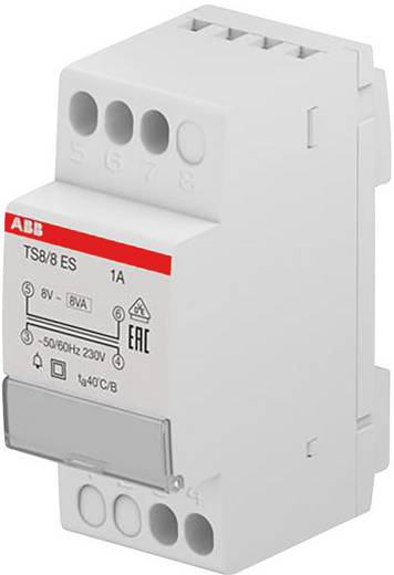 Klingel-Transformator 8 V/AC 1 A ABB 2CSM081301R0811