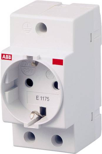 Hutschienen-Steckdose ohne Klappdeckel Grau 16 A 250 V/AC ABB 2CSM210000R0721