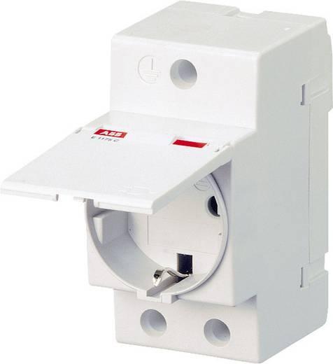 Hutschienen-Steckdose mit Klappdeckel Grau 16 A 250 V/AC ABB 2CSM211000R0721