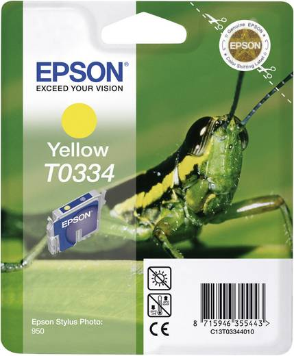 Epson Tintenpatrone T0334 Gelb C13T03344010