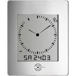 Nástenné DCF hodiny s teplomerom a vlhkomerom 240 x 285 cm, strieborné