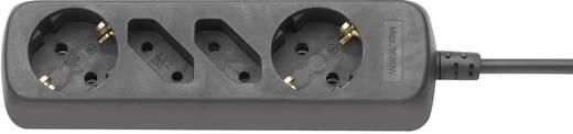 Steckdosenleiste ohne Schalter 4fach Schwarz Schutzkontakt GAO 340