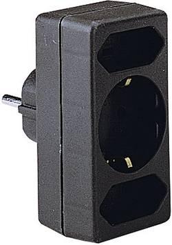 Zásuvková rozbočka GAO 0139, 3 zásuvky, černá