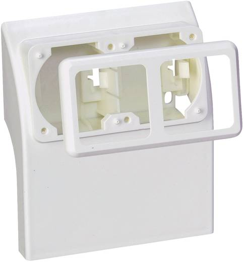 Elektro-Sockelleistensystem Steckdosencontainer 75581 Weiß