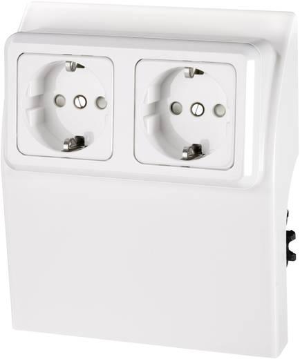 Elektro-Sockelleistensystem Steckdosencontainer 75583 Weiß