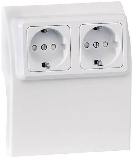 Elektro-Sockelleistensystem Steckdosencontainer 75584 Weiß