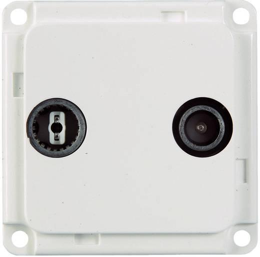 Elektro-Sockelleistensystem Geräteeinsatz Antenne/SAT 71683 Weiß
