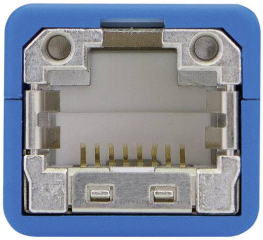 RJ45 Netzwerk Adapter [1x RJ45-Stecker - 1x RJ45-Buchse] 0.20 m Blau Telegärtner