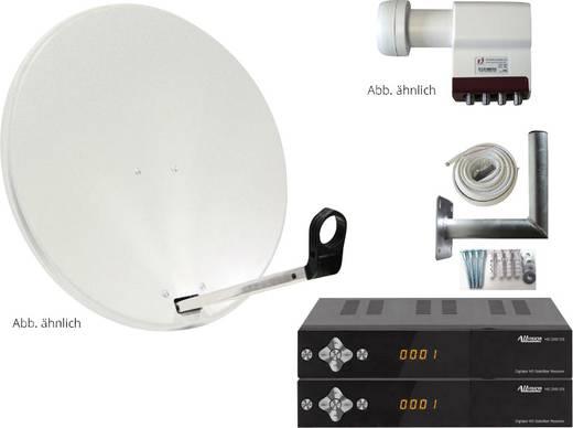 SAT-Anlage mit Receiver 4 AllVision SAH-S 4000/80 HD 80 cm