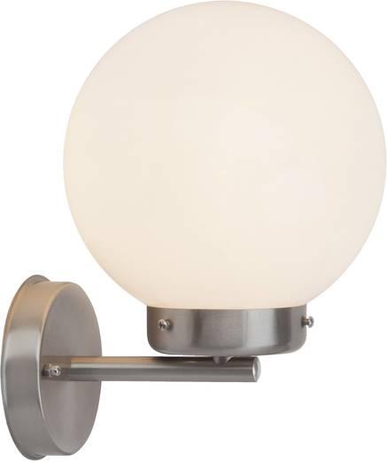 Außenwandleuchte Energiesparlampe, LED E27 42 W Brilliant Madison 47281/82 Silber-Grau