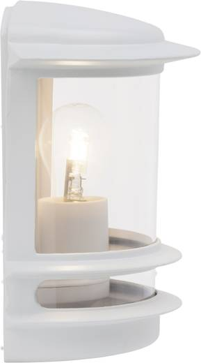 Außenwandleuchte Energiesparlampe, LED E27 60 W Brilliant Hollywood 47880/05 Weiß