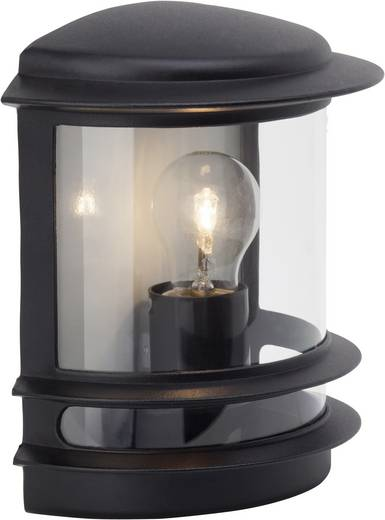 Außenwandleuchte Energiesparlampe, LED E27 60 W Brilliant Hollywood 47880/06 Schwarz