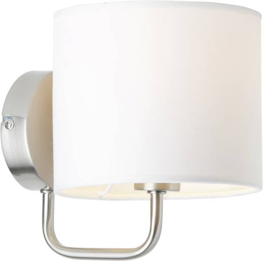 Wandleuchte E14 40 W Halogen, Energiesparlampe Brilliant Sandra 85010/75 Weiß, Chrom