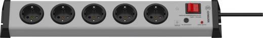 Überspannungsschutz-Steckdosenleiste 5fach Grau Schutzkontakt Ehmann 0206x00052301