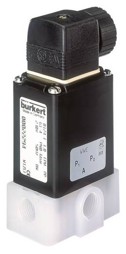 3/2-Wege Direktgesteuertes Ventil Bürkert 19078 230 V/AC G 1/4 Muffe Nennweite 4 mm Gehäusematerial PVDF Dichtungsmaterial FKM