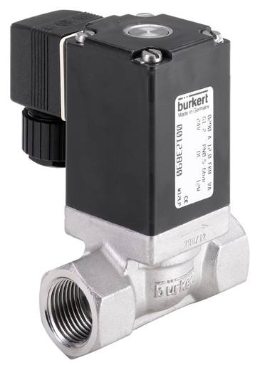 Bürkert 66125 2/2-Wege Direktgesteuertes Ventil 230 V/AC G 1 Muffe Gehäusematerial Edelstahl Dichtungsmaterial FKM
