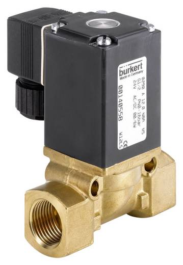 2/2-Wege Direktgesteuertes Ventil Bürkert 85291 24 V/DC G 1 1/4 Muffe Gehäusematerial Messing Dichtungsmaterial NBR