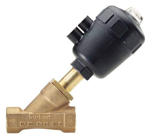 2/2-Wege Luftgesteuertes Ventil Bürkert 186106 G 1/2 Muffe Gehäusematerial Rotguss Dichtungsmaterial PTFE