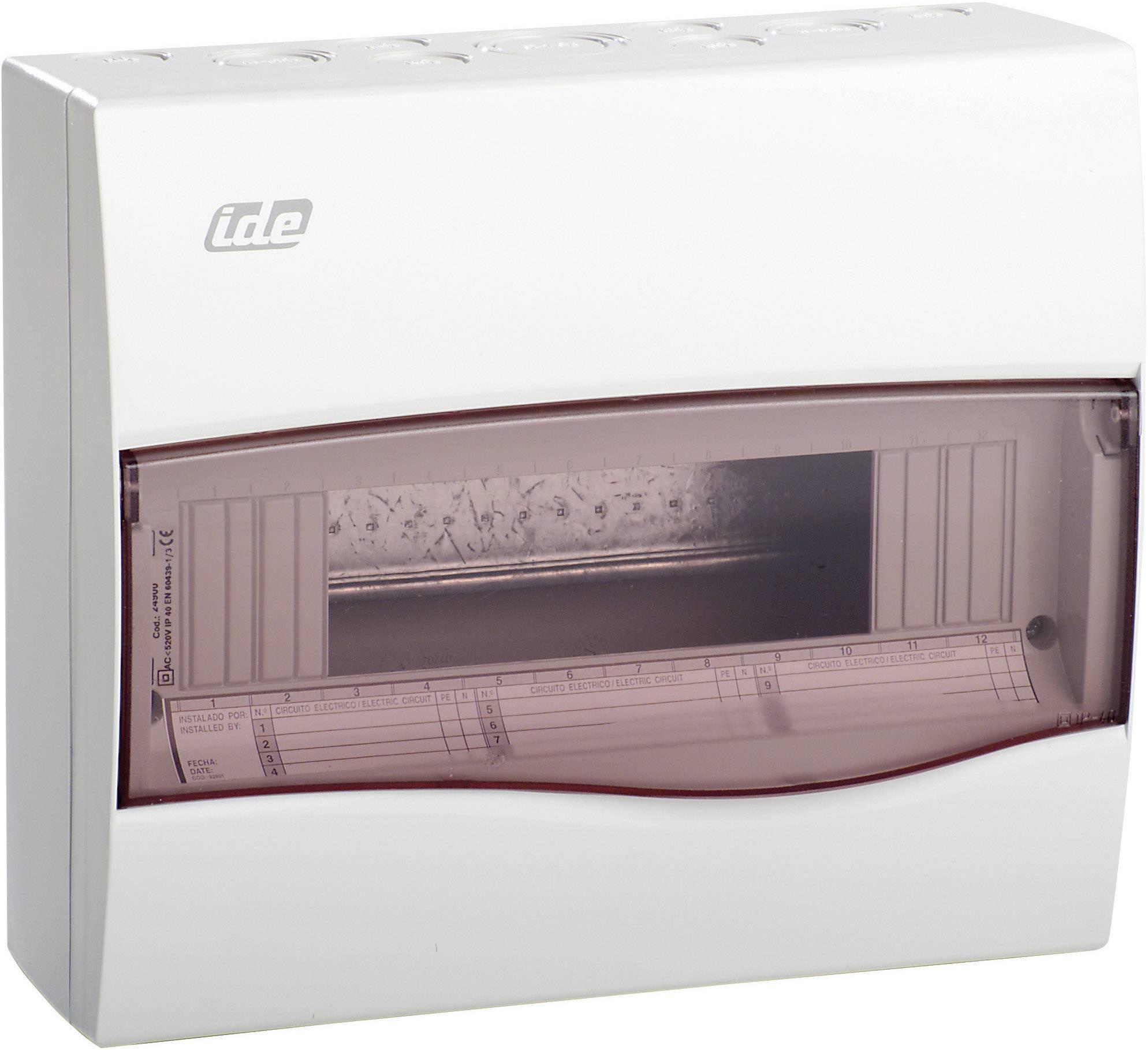 Verteilerkasten Aufputz 10TE IP55  Feuchtraum  F-tronic KV10WDKE