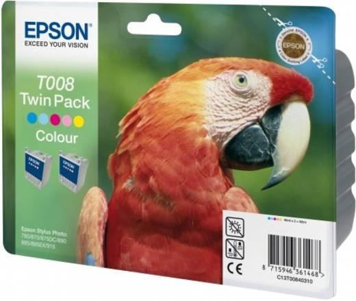 Epson Tinte T008 TWIN Original 2er-Pack Gelb, Light Magenta, Light Cyan, Magenta, Cyan C13T00840310
