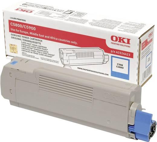 OKI Toner C5800 C5900 43324423 Original Cyan 5000 Seiten