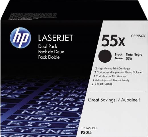 HP Toner 2er-Pack 55X CE255XD Original Schwarz 25000 Seiten