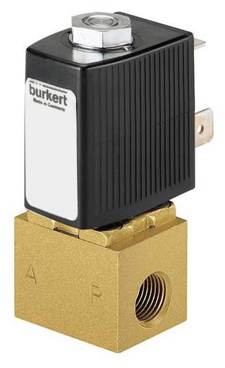2/2-Wege Direktgesteuertes Ventil Bürkert 134096 24 V/AC G 1/8 Muffe Nennweite 2 mm Gehäusematerial Messing Dichtungsmaterial FKM