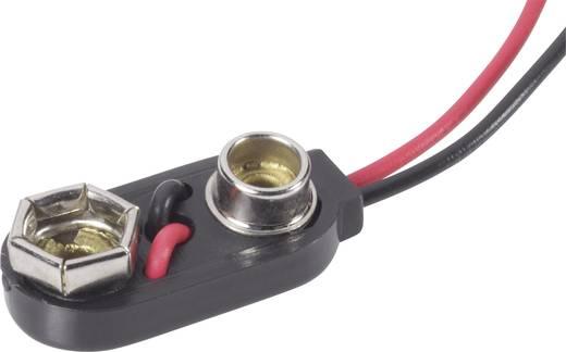 Batterieclip 1x 9 V Block Druckknopfanschluss (L x B x H) 26 x 13 x 8 mm Beltrona 9V-I-Clip
