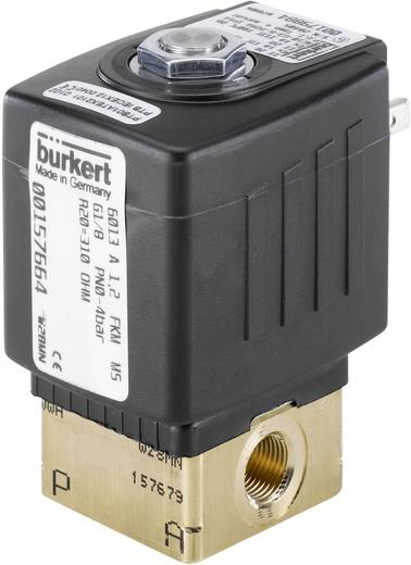 2/2-Wege Direktgesteuertes Ventil Bürkert 134239 230 V/AC G 1/8 Muffe Nennweite 2 mm Gehäusematerial Messing Dichtungsmaterial FKM